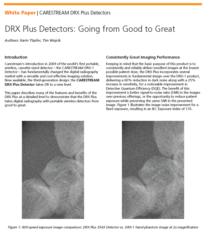 Carestream DRX Plus Detector White Paper
