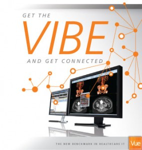 Picture of the logo for Carestream's VIBE community