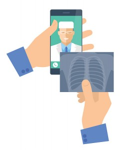 Illustration-of-mobile-phone-and-radiography