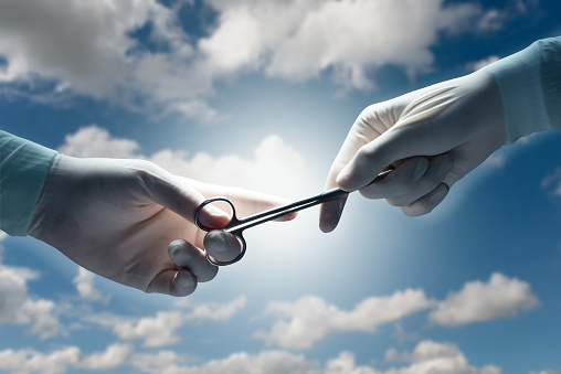 Image of doctors hands connecting