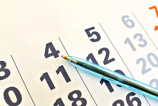 Image of calendar page