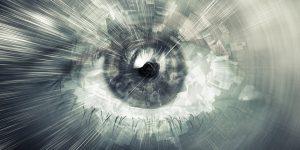 up close image of eye