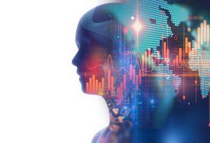 Illustration of head full of data