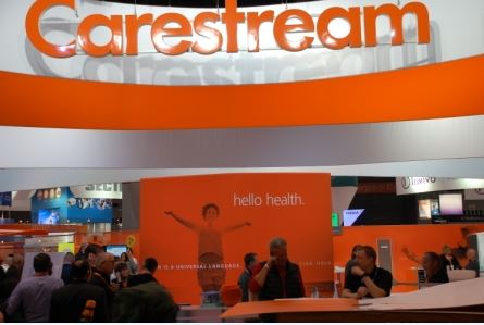 Photo of carestream booth at rsna