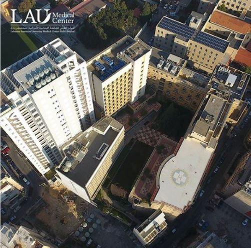 Birds-eye view of LAU Medical Center