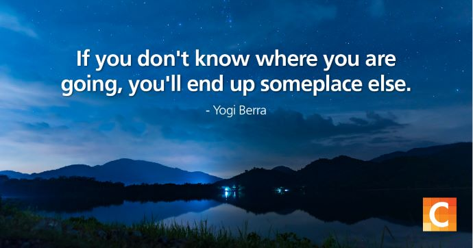 Image with quote by Yogi Berra