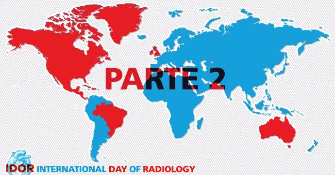 Una imagen del mundo con el texto Día Internacional de la Radiología.