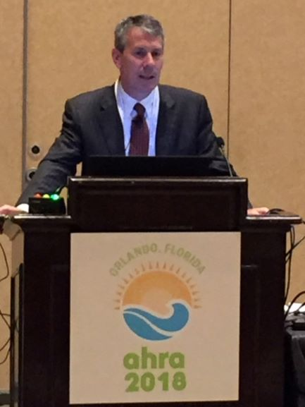 Image of Todd Minnigh speaking at AHRA 2018.