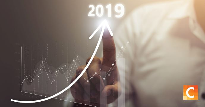 graph trending upward in 2019