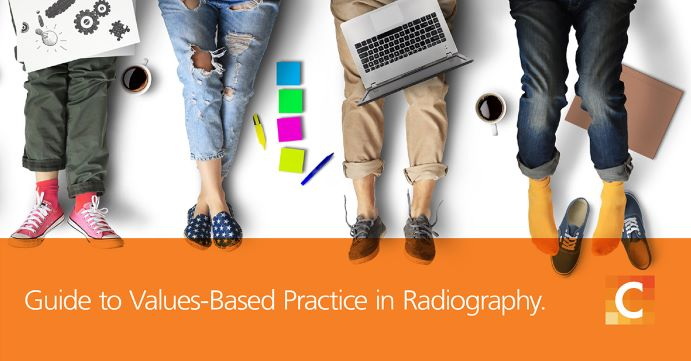 "Image saying, ""Guide to values-based practice in Radiography""."