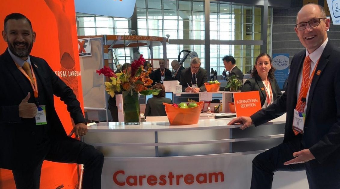Image of Carestream employees at Carestream Booth RSNA 18