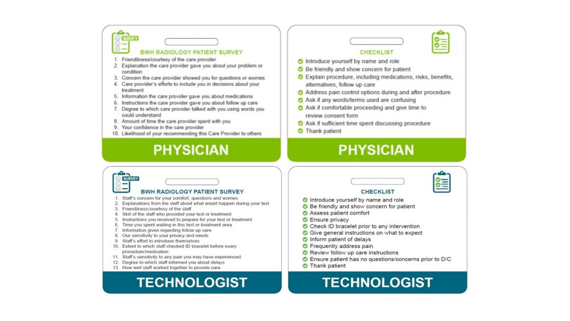 example of radiologists and radiologic technologists' badges