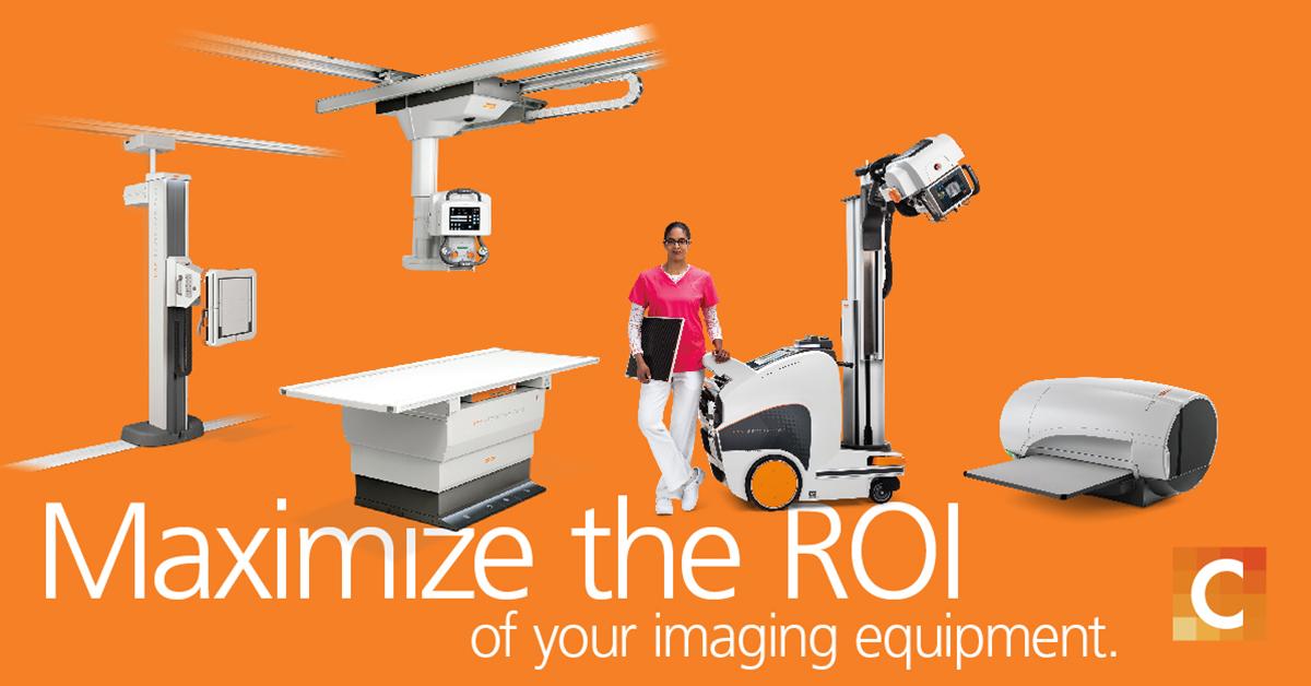 Image of nurse model with carestream equipment