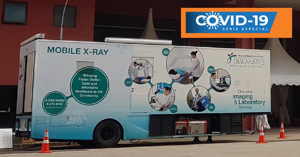 Foto do trailer móvel de raios-X do NHGD.