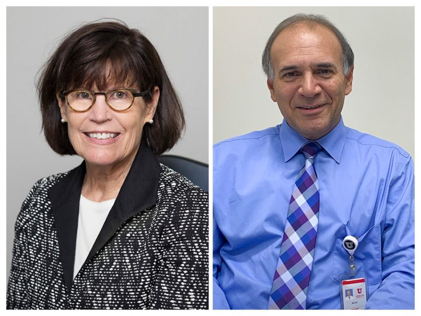 Photos of Doctor Joyce Schroeder and Alex Nieves
