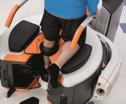 Photo of a patient being tested in Carestream's OnSight 3D Extremity System.