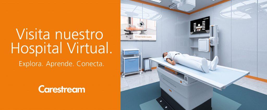 """Banner de """"Visite nuestro hospital virtual"""" en RSNA 2020."""